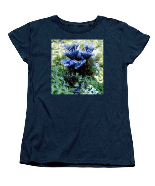 Women's T-Shirt (Standard Cut) featuring the photograph Social Feather Duster Cluster - A Social Gathering by Amy McDaniel
