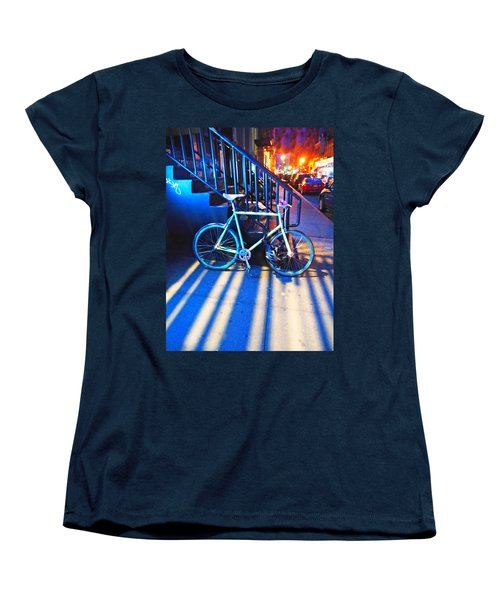 Women's T-Shirt (Standard Cut) featuring the photograph Soho Bicycle  by Joan Reese