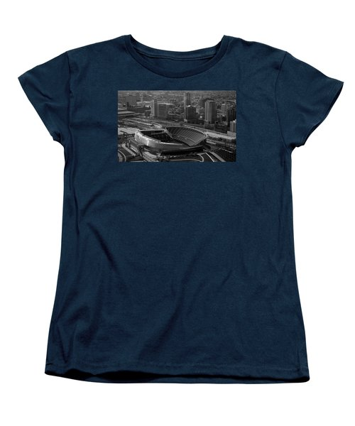 Soldier Field Chicago Sports 05 Black And White Women's T-Shirt (Standard Cut) by Thomas Woolworth