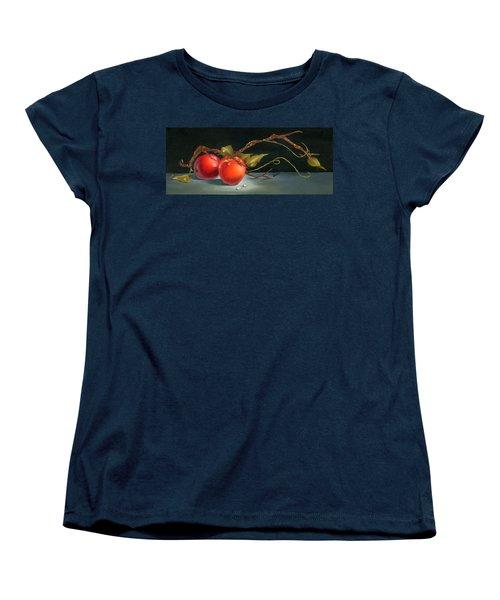 Solitary Apples Women's T-Shirt (Standard Cut) by Doreta Y Boyd