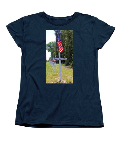 Women's T-Shirt (Standard Cut) featuring the photograph Some Gave All by Gordon Elwell