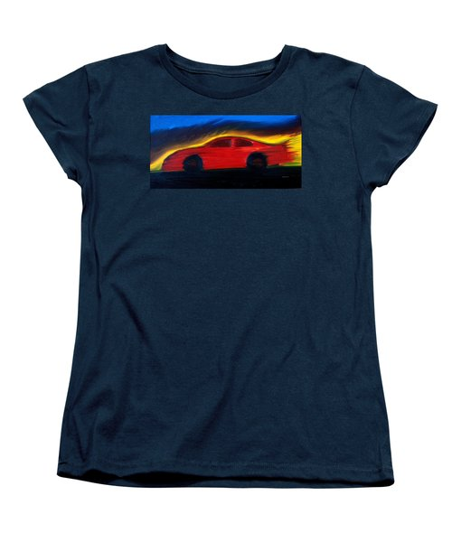 Women's T-Shirt (Standard Cut) featuring the painting Some Have Seen The Air by Stacy C Bottoms