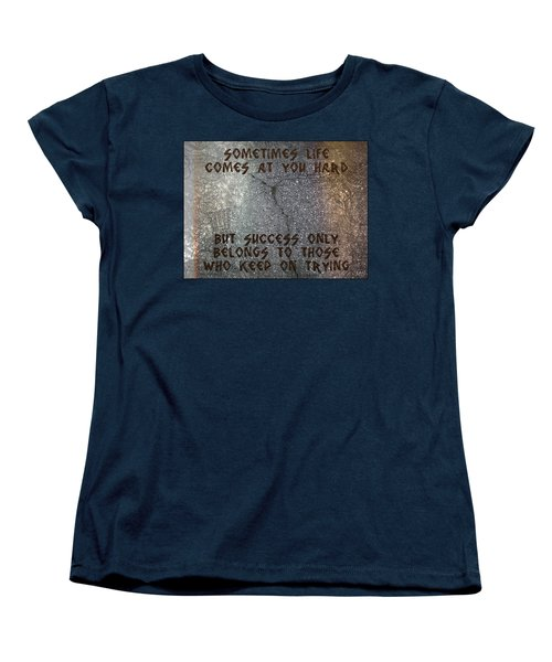 Women's T-Shirt (Standard Cut) featuring the digital art Sometimes Life Comes At You Hard by Absinthe Art By Michelle LeAnn Scott