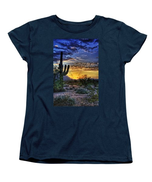 Sonoran Sunrise  Women's T-Shirt (Standard Cut) by Saija  Lehtonen