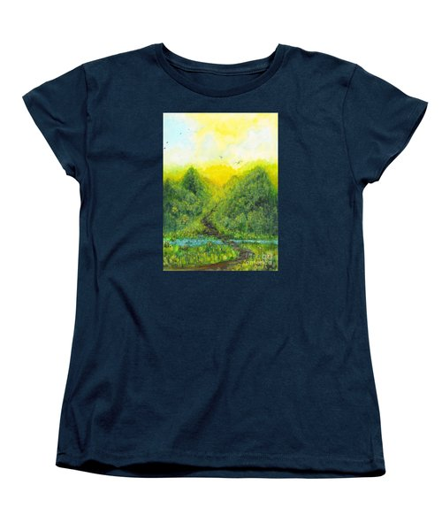 Women's T-Shirt (Standard Cut) featuring the painting Sonsoshone by Holly Carmichael