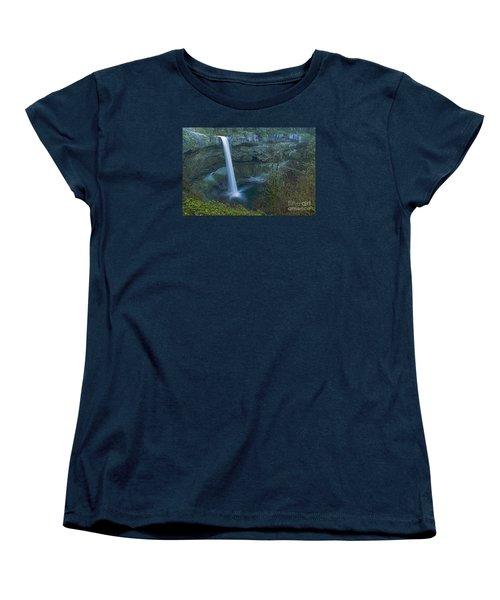 Women's T-Shirt (Standard Cut) featuring the photograph South Falls Winterscape by Nick  Boren
