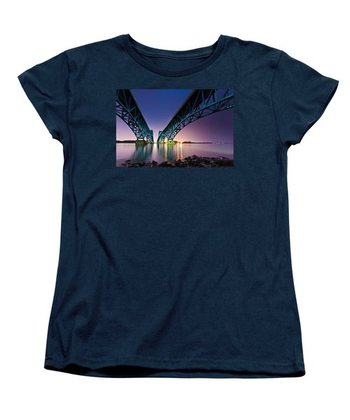 Women's T-Shirt (Standard Cut) featuring the photograph South Grand Island Bridge by Mihai Andritoiu