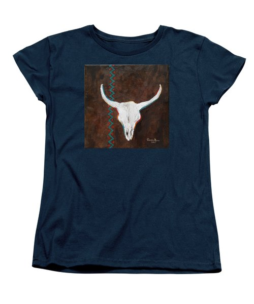 Women's T-Shirt (Standard Cut) featuring the painting Southwestern Influence by Judith Rhue