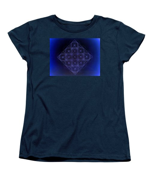Space Time Sine Cosine And Tangent Waves Women's T-Shirt (Standard Cut) by Jason Padgett