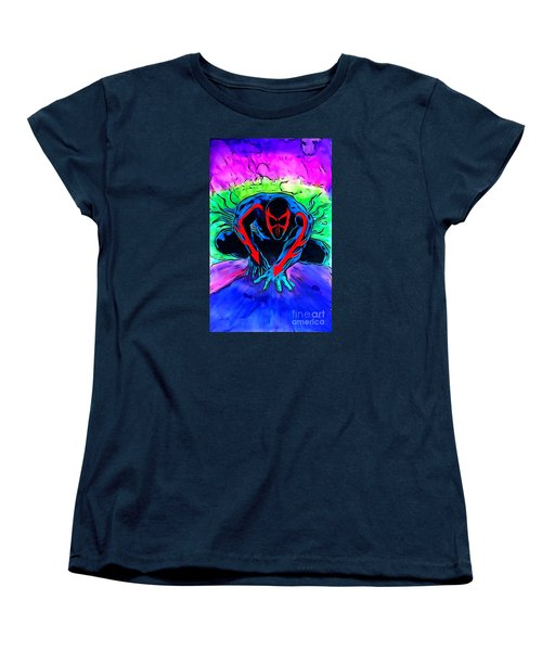 Spider-man 2099 Illustration Edition Women's T-Shirt (Standard Cut) by Justin Moore