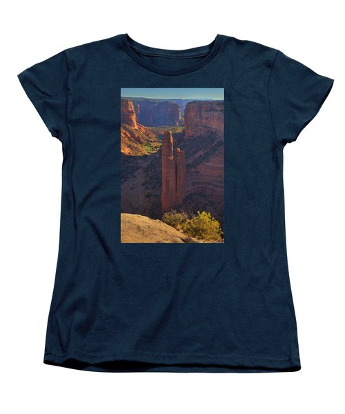 Women's T-Shirt (Standard Cut) featuring the photograph Spider Rock by Alan Vance Ley