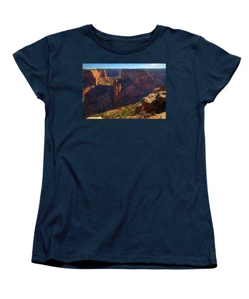 Women's T-Shirt (Standard Cut) featuring the photograph Spider Rock Sunrise by Alan Vance Ley
