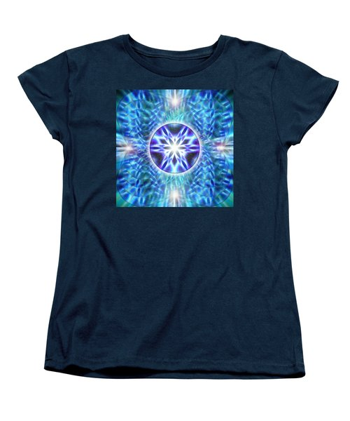 Women's T-Shirt (Standard Cut) featuring the drawing Spiral Compassion by Derek Gedney