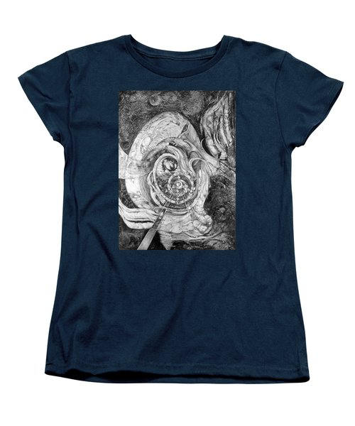 Women's T-Shirt (Standard Cut) featuring the painting Spiral Rapture 2 by Otto Rapp