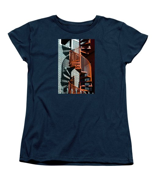 Women's T-Shirt (Standard Cut) featuring the photograph Spiral Stairs - Color by Darryl Dalton