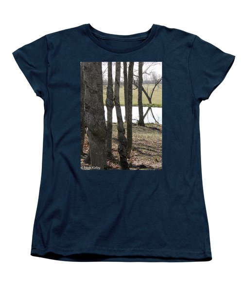 Women's T-Shirt (Standard Cut) featuring the photograph Spiral Trees by Nick Kirby