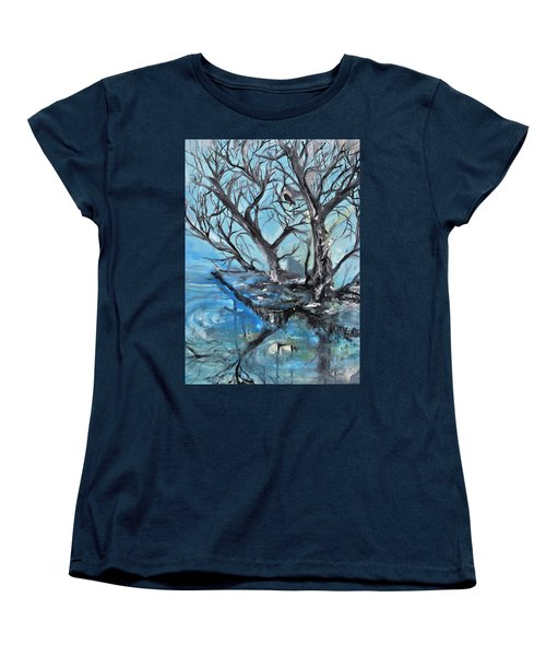 Spooky Mood Women's T-Shirt (Standard Cut) by Evelina Popilian