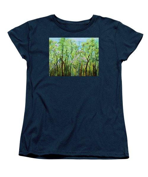 Spring Arpeggio Women's T-Shirt (Standard Cut) by Regina Valluzzi