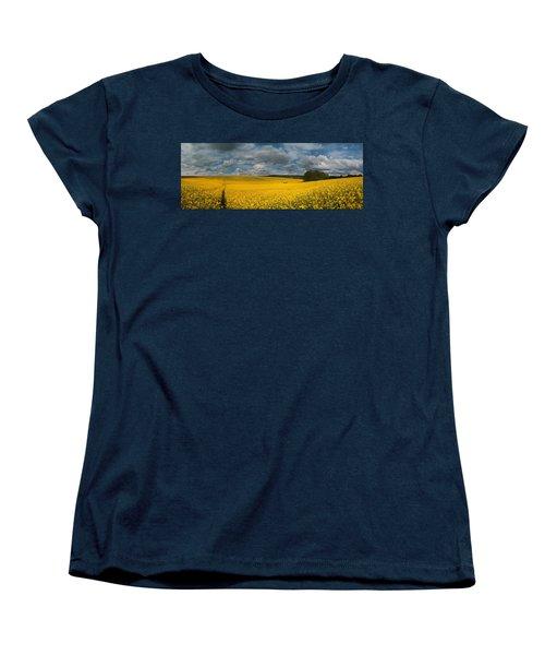 Spring At Oilseed Rape Field Women's T-Shirt (Standard Cut) by Davorin Mance