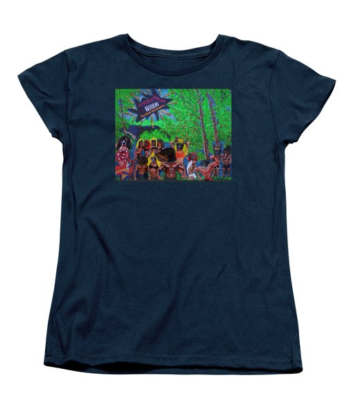 Women's T-Shirt (Standard Cut) featuring the painting Spring Break 2013 by Lisa Piper