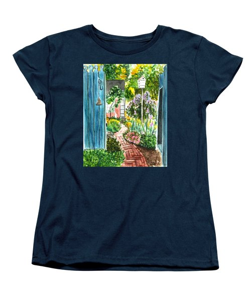 Spring Garden Women's T-Shirt (Standard Cut) by Clara Sue Beym