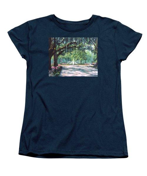 Spring In Forsythe Park Women's T-Shirt (Standard Cut) by Stanton Allaben
