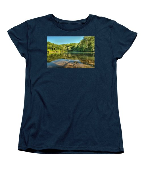 Spring Mill Lake Women's T-Shirt (Standard Cut) by Adam Jewell