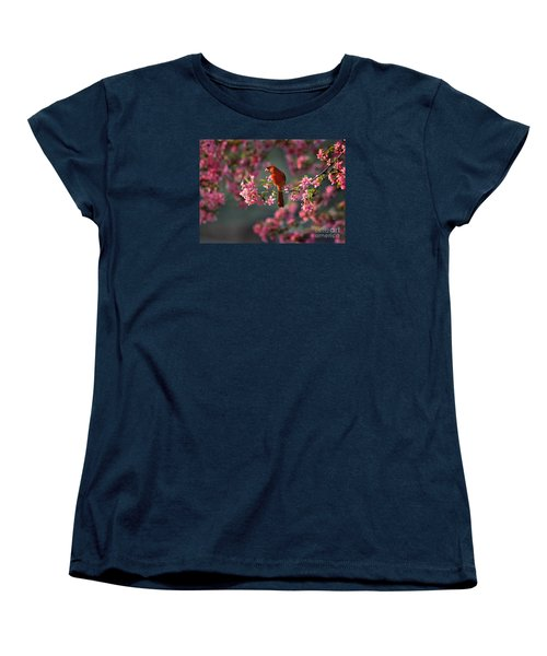 Spring Morning Cardinal Women's T-Shirt (Standard Cut) by Nava Thompson