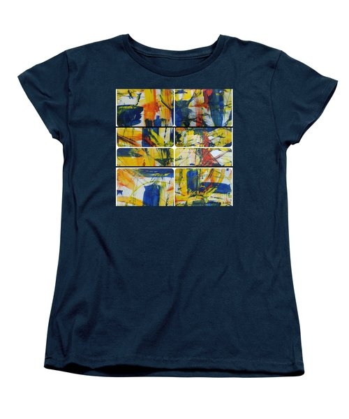 Women's T-Shirt (Standard Cut) featuring the painting Spring Part One by Sir Josef - Social Critic - ART