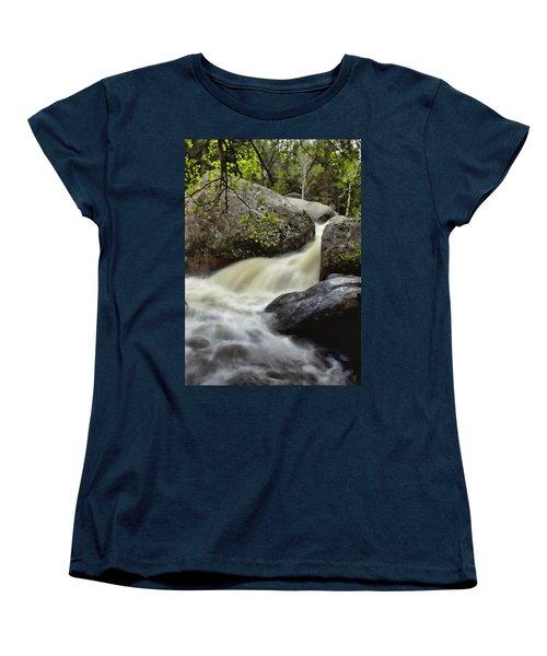 Women's T-Shirt (Standard Cut) featuring the photograph Spring Runoff by Ellen Heaverlo