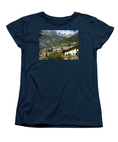 Women's T-Shirt (Standard Cut) featuring the photograph Springtime In Molveno - Italy by Phil Banks