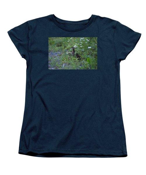 Women's T-Shirt (Standard Cut) featuring the photograph Spruce Grouse by James Petersen