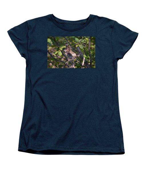 Women's T-Shirt (Standard Cut) featuring the photograph Spruce Grouse2 by James Petersen