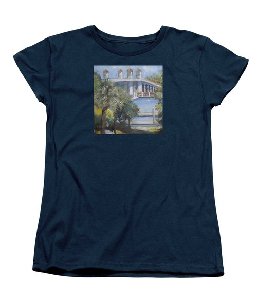 St Augustine Bridge Of Lions Women's T-Shirt (Standard Cut) by Mary Hubley