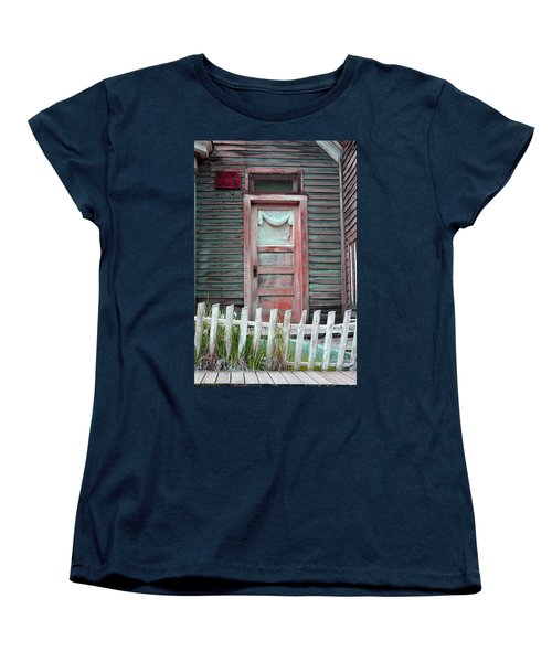 St. Elmo Door Salmon Women's T-Shirt (Standard Cut) by Lanita Williams