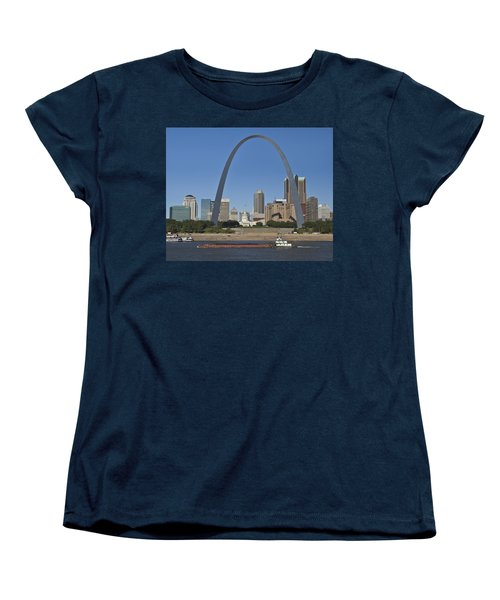 St Louis Skyline Women's T-Shirt (Standard Cut) by Garry McMichael