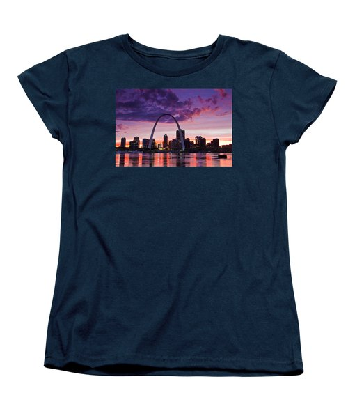 St Louis Sunset Women's T-Shirt (Standard Cut) by Garry McMichael