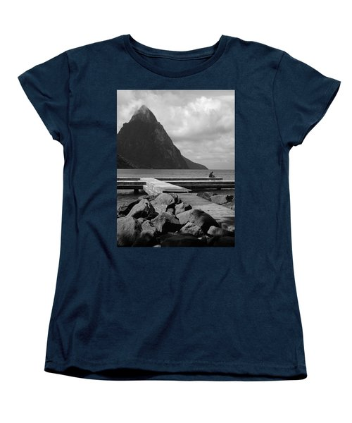 St Lucia Petite Piton 5 Women's T-Shirt (Standard Cut) by Jeff Brunton