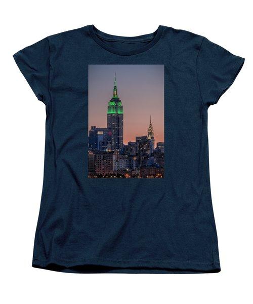 St Patrick's Day Postcard Women's T-Shirt (Standard Cut) by Eduard Moldoveanu