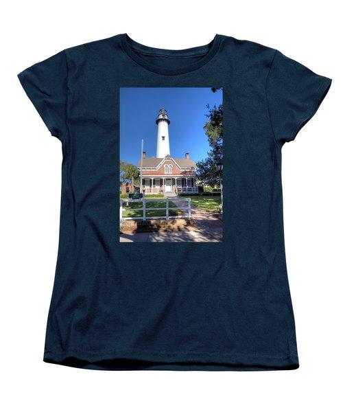 Women's T-Shirt (Standard Cut) featuring the photograph St. Simons Island Light Station by Gordon Elwell