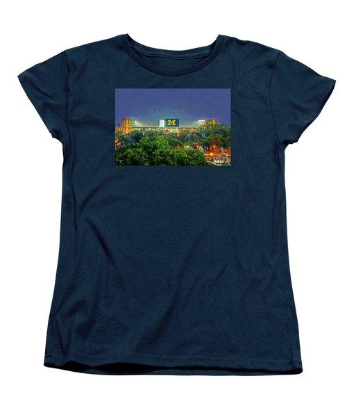 Stadium At Night Women's T-Shirt (Standard Cut) by John Farr