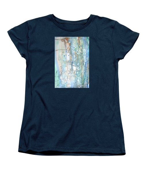 Women's T-Shirt (Standard Cut) featuring the painting Stained Cracks by Rebecca Davis
