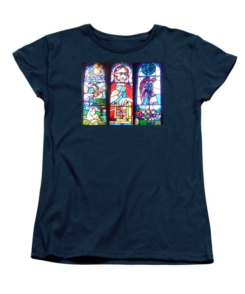 Women's T-Shirt (Standard Cut) featuring the photograph Stained Glass Window by John Williams