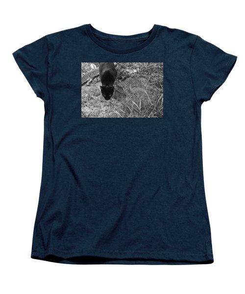Stalking Cat Women's T-Shirt (Standard Cut) by Melinda Fawver