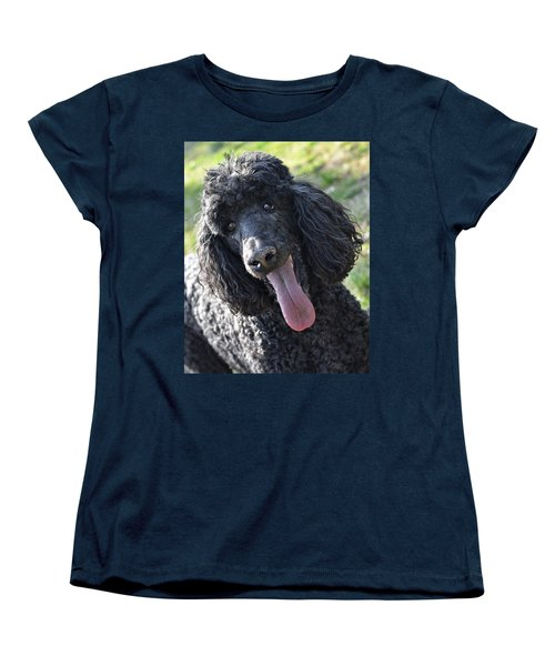 Standard Poodle Women's T-Shirt (Standard Cut) by Lisa Phillips