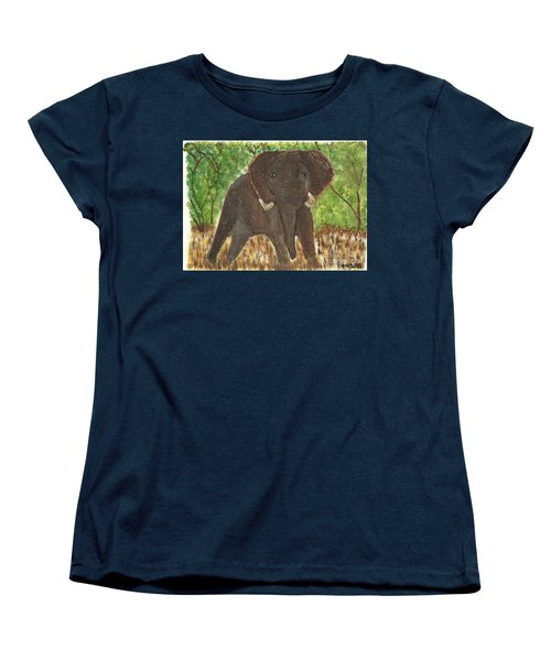 Women's T-Shirt (Standard Cut) featuring the painting Standing My Ground by Tracey Williams
