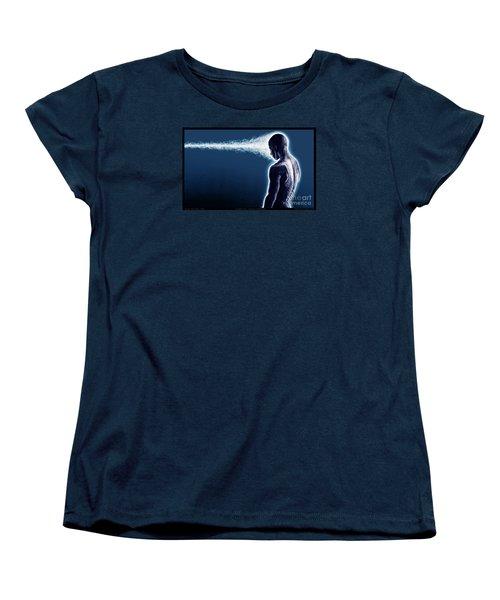 Standing Still Thoughts Proceeding Women's T-Shirt (Standard Cut) by Tony Koehl