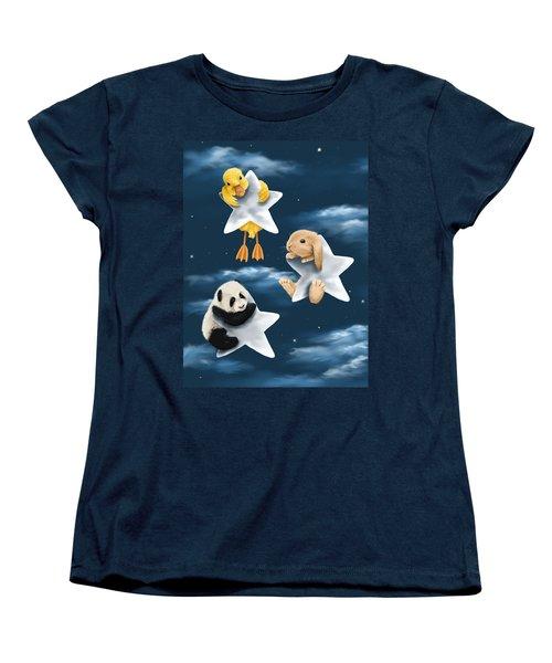 Star Games Women's T-Shirt (Standard Cut) by Veronica Minozzi