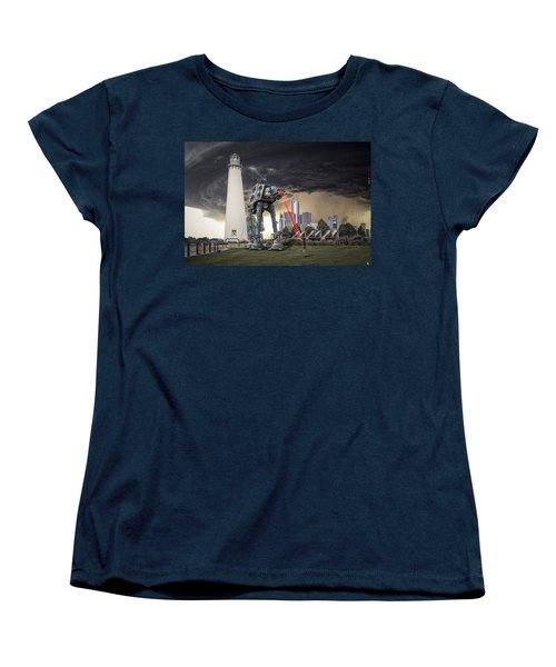 Women's T-Shirt (Standard Cut) featuring the photograph Star Wars All Terrain Armored Transport by Nicholas  Grunas