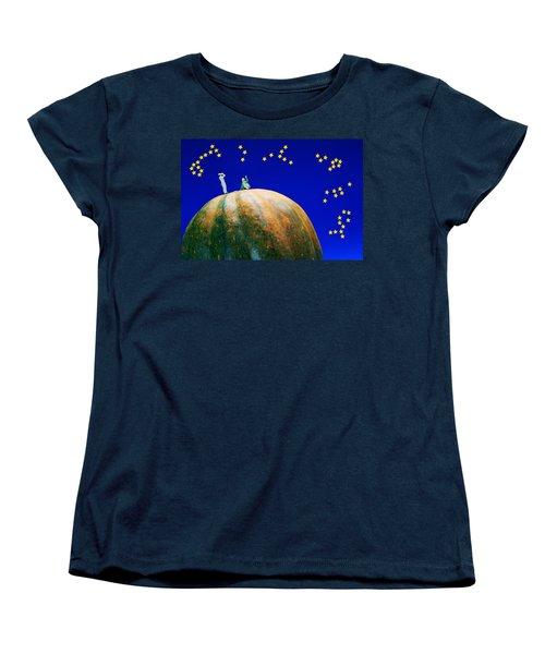 Women's T-Shirt (Standard Cut) featuring the photograph Star Watching On Pumpkin Food Physics by Paul Ge